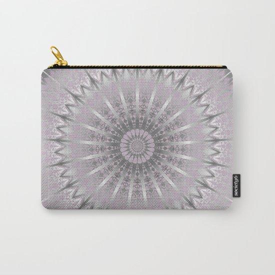 Mauve Silver Mandala Carry-All Pouch
