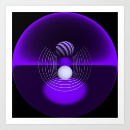 circular images on black -18- Art Print