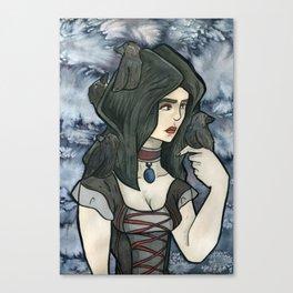 Ravens Land Canvas Print