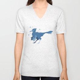 Velociraptor (Blue) Unisex V-Neck
