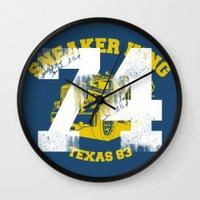 sneaker Wall Clocks featuring Sneaker King by Kristian Boserup
