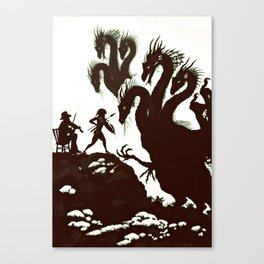 Fiddler Fighting the Hydra Canvas Print