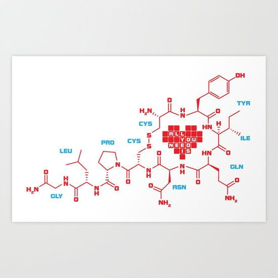 The chemistry of love Art Print
