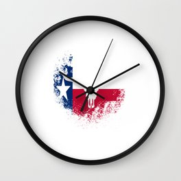 Texas Independence Day Wall Clock