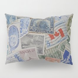 Canadian Pride Vintage Postage Stamp Collection From Canada Pillow Sham