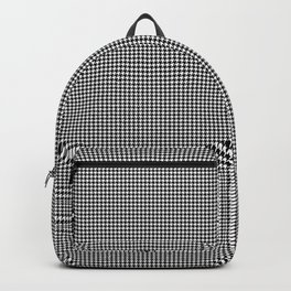 Micro Black and White Houndstooth Pattern Backpack