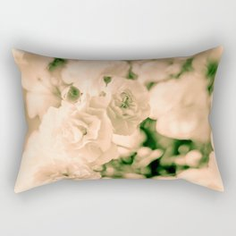 Romance and Ruffles beautiful flowers Rectangular Pillow
