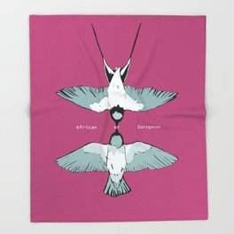 African or European swallows? Throw Blanket