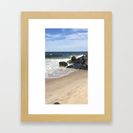 Baesic Belmar Beach Framed Art Print