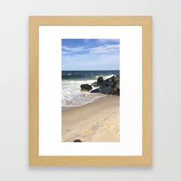 Baesic Belmar Beach Framed Art Print