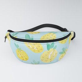 Watercolour Pineapples on Blue Fanny Pack