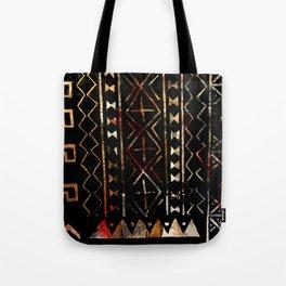 Golden Mud Cloth Tote Bag