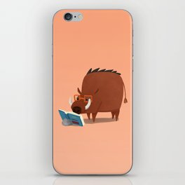 Warthog and his Good Book iPhone Skin