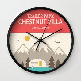 Wilderness: Chestnut Villa Trailer park Wall Clock