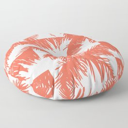 Palm Leaf Pattern Orange Floor Pillow