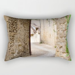 Through the Village Rectangular Pillow