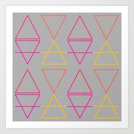 Geometric abstract pattern Art Print