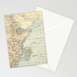 North East Africa Vintage Map Stationery Cards
