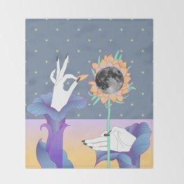 moonflower Throw Blanket