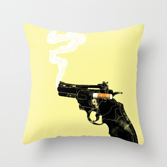 Smoking Gun Throw Pillow