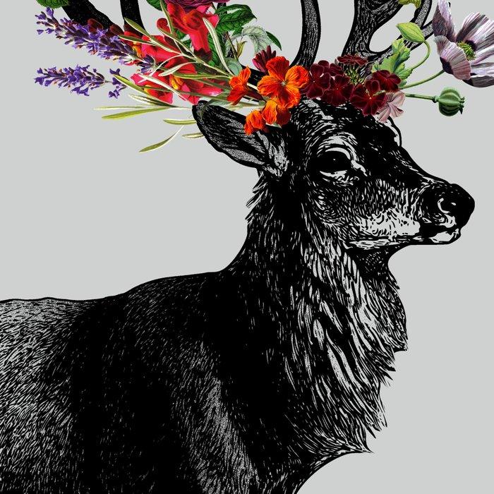 Spring Itself Deer Floral Leggings