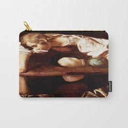 Michelangelo Merisi da Caravaggio, Narcissus at the Source, oil on canvas, 1597-99 Carry-All Pouch