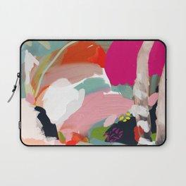 birches in garden abstract modern art Laptop Sleeve