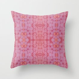 New York Pink 1970's Throw Pillow