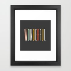 Kate Spade - Wonderfule Framed Art Print