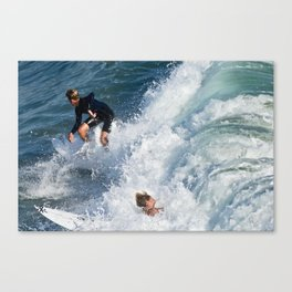 Sports Wipe Out Surf City USA Canvas Print