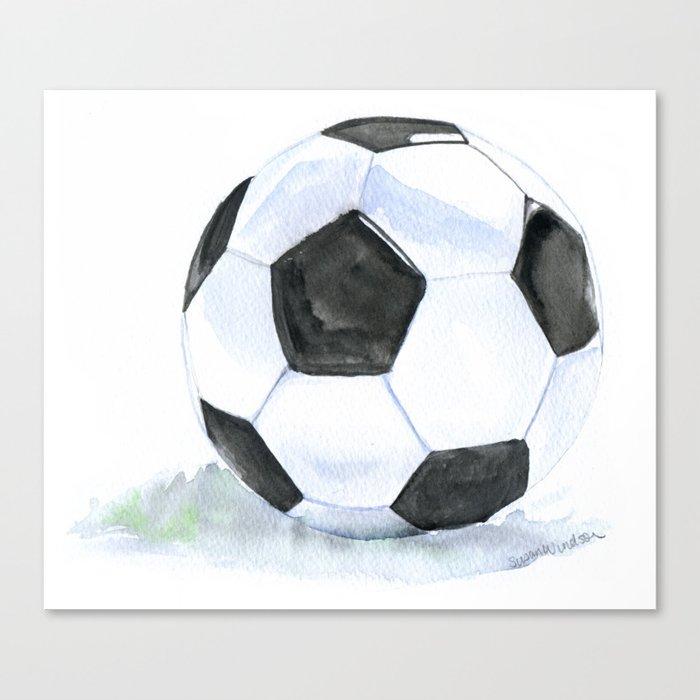 Soccer Ball Watercolor Leinwanddruck