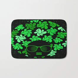 Afro Diva : Green & Black Bath Mat