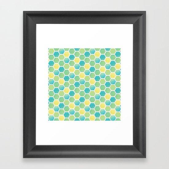 Summer Time Honeycomb Framed Art Print