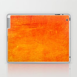 Orange Sunset Textured Acrylic Painting Laptop & iPad Skin