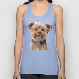 Yorkie Sticking Tongue Out | Dogs | Nadia Bonello Unisex Tank Top
