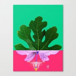 Fig Leaf Diamond Christmas - Other Half and Half Canvas Print