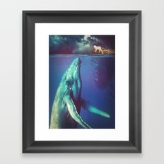 The Whale and the Wolf Framed Art Print