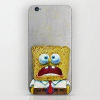 spongebob iPhone & iPod Skins featuring SPONGEBOB SCREAMING by KABUKI DANSHI