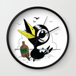 Drinky Crow! Wall Clock