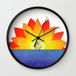 Sitting In The Sun Wall Clock