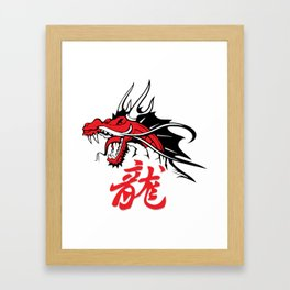 Dragon's head Framed Art Print