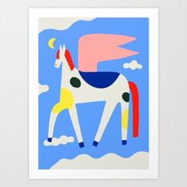 Primary Pegasus Art Print