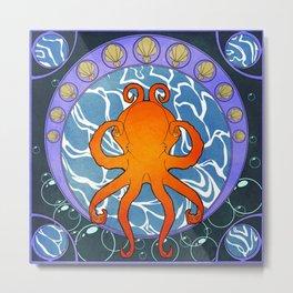 Octopus Nouveau  Metal Print