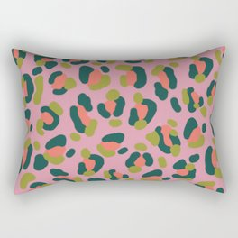 Pink Leopard Rectangular Pillow