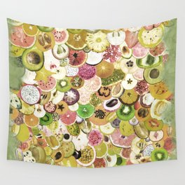 Fruit Madness (All The Fruits) Vintage Wall Tapestry