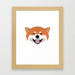 Shiba Inu Decal Framed Art Print