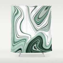 Bold Green Agate Stone Effect Design Shower Curtain