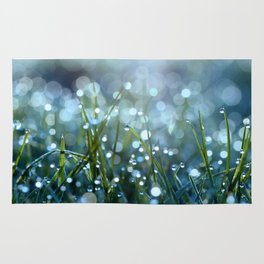 Fairy Drops Aqua Blue Rug