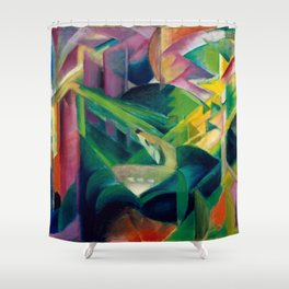 "Franz Marc ""Deer in a Monastery Garden"" Shower Curtain"