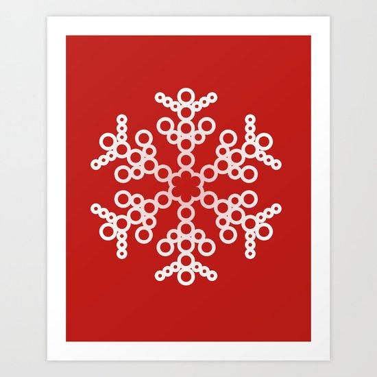 Christmas Snowflake 6 Art Print